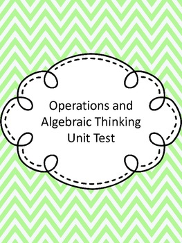 Fourth Grade Operations and Algebraic Thinking Assessment