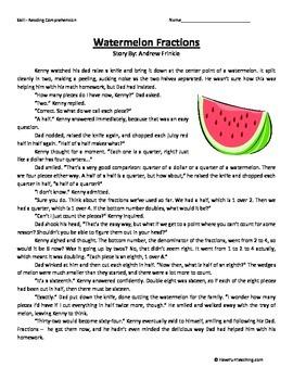 Fourth Grade Reading Comprehension Worksheet