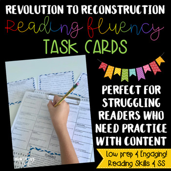 Social Studies Reading Fluency & Comprehension Task Cards
