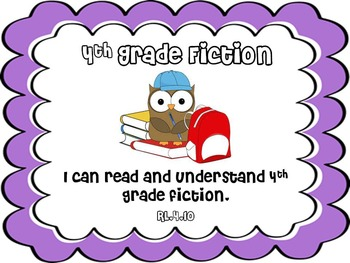Fourth Grade Reading Standards--I Can Statements