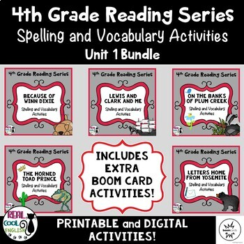 Fourth Grade Reading Street Spelling and Vocabulary Activi