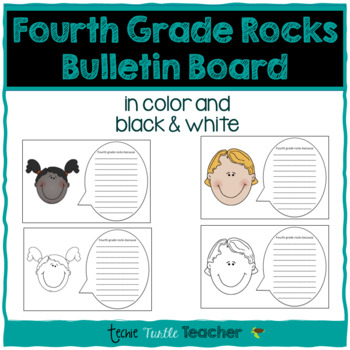 Fourth Grade Rocks Because Writing - Perfect for Bulletin Boards!