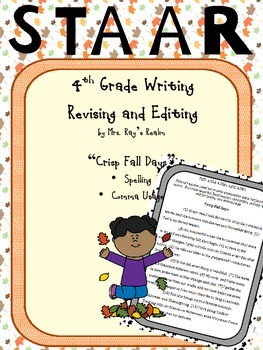 Crisp Fall Days-STAAR Writing Revising and Editing Passage