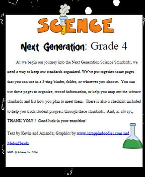 Fourth Grade Science Next Generation Planner