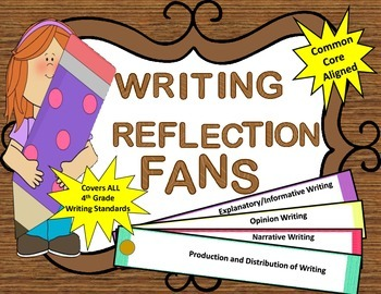 Fourth Grade Writing Reflection Fans (Common Core Aligned-