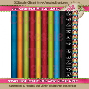 Back To School Paper Pack - Commercial Use