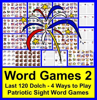 Fourth of July Literacy Centers: Sight Words Activities-Se