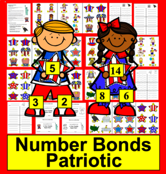 Fourth of July Math Centers:  102 Triangle Fact Families -