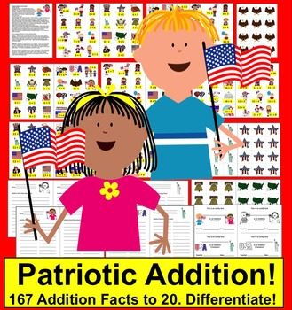 Patriotic Math: Addition -167 Addition Facts to 20 - Veter