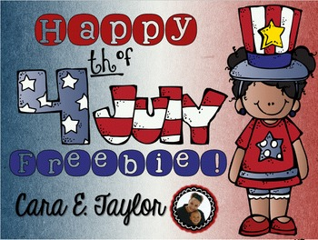 Fourth of July Math and Literacy Freebie