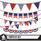 Fourth of July bunting clipart images assorted bunting, pe