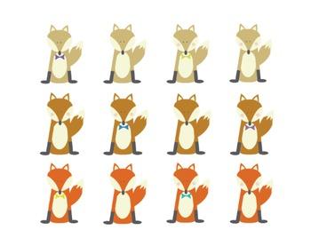 Fox Clipart, Fox, Clipart Set #208