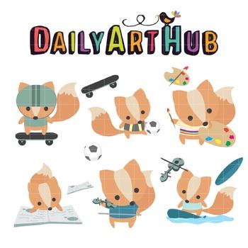 Fox Hobbies Clip Art - Great for Art Class Projects!