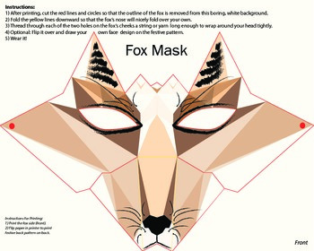 Fox Mask - Origami Assembly