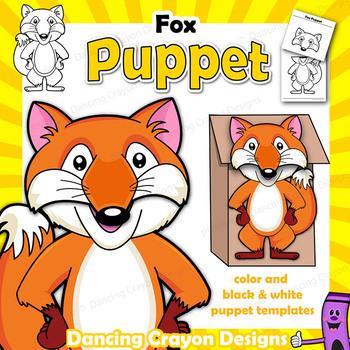Fox Craft Activity   Paper Bag Puppet Template