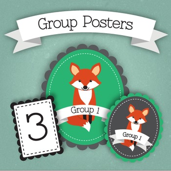 Fox Themed Group Posters + Cards