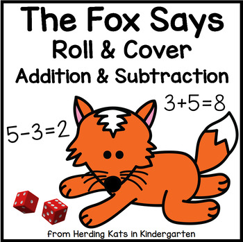 Fox Themed Roll & Cover Addition & Subtraction Games!