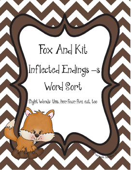 Fox and Kit, Word Sort