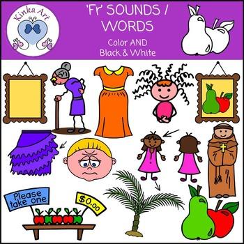 Fr Sounds / Words: Beginning Sounds Clip Art