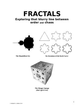 Fractals Activity - Koch Snowflake, Sierpinski Triangle