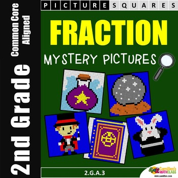 Fraction Mystery Pictures Activity, 2nd Grade Math Worksheets