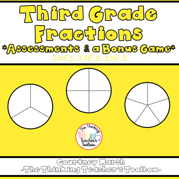 Fraction Action Third Grade Common Core 3.NF.1, 3.NF.2, 3.NF.3