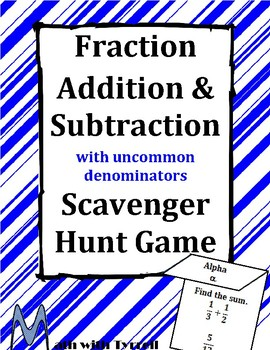 Fraction Addition and Subtraction with Uncommon Denominato