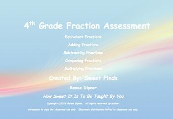 Fraction Assessment 4th Grade
