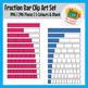 Fraction Bar Clip Art Set - 346 Pieces - 5 Colors & BW - N