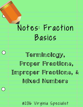 Fraction Basics Guided Notes