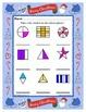 Fraction Basics with  Shapes ~ One Work Sheet ~ Many Seaso