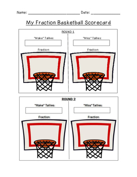 Fraction Basketball Scorecard