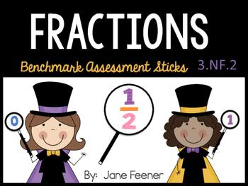 Fraction Benchmark Assessment Sticks