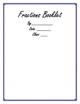 Fraction Booklet Activity