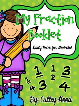 CRCT/GA Milestones Review Math Fraction Booklet/Notes