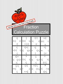 Fraction Calculation Puzzle