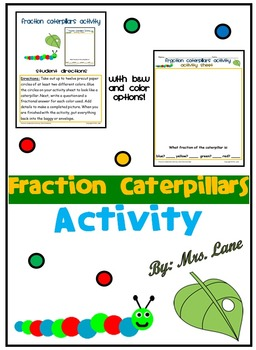Fraction Caterpillars Activity