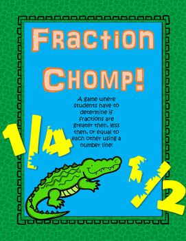 Fraction Chomp! (comparing fractions using number lines)