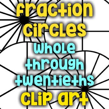 Fraction Circle Black Lines/Clip Art