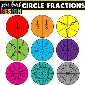 Fractions Clipart Set {Circles}