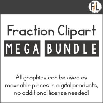 Fraction Clipart Mega Bundle