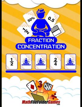 Fraction Concentration (Fractions, Decimals & Percents Game)