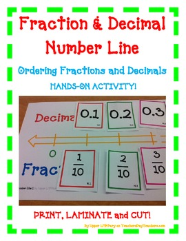 Fraction Decimal Number Line - A FUN Hands-On... by Upper LMNtary ...