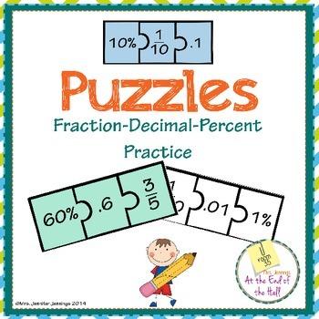 Fraction-Decimal-Percent Conversion Puzzle Practice
