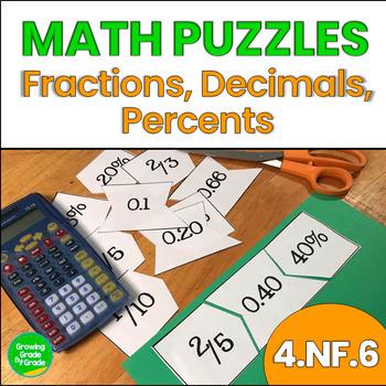 Fraction, Decimal, Percent Puzzles