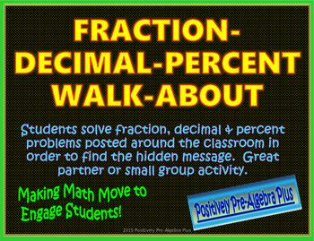 Fraction-Decimal-Percent Walk-About Activity