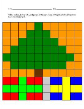 Fraction, Decimal, and Percent Grid Worksheets