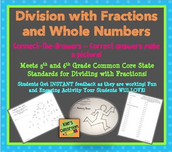 Fraction Division - Whole Numbers and Fractions- Connect t