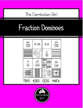 Fraction Dominoes (4.2EG, 4.NF.1)