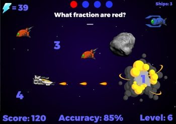 Fraction Fighters - Operations, naming and reducing. (Play